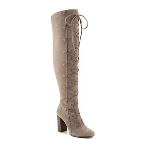 NWT Vince Camuto Thanta Lace Up Over The Knee Boot